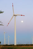 Wind Turbine in Evening Light Royalty Free Stock Images