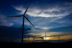 Wind turbine. royalty free stock images