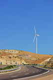 Wind turbine in Extremadura region Stock Image