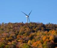 Wind turbine in fall Royalty Free Stock Image