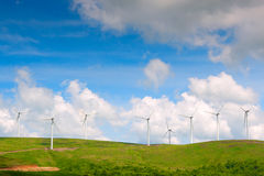 Wind turbine farm Stock Photos