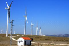 Wind turbine farm Royalty Free Stock Photo