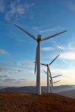 Wind turbine farm stock photo