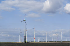 Wind turbine farm Stock Image