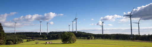 Wind turbine farm in the countryside Stock Image