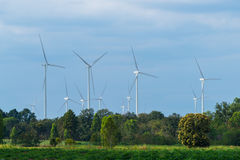 Wind Turbine Farm, Wind Energy Concept. Stock Photos