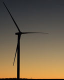Wind turbine on a farm field Stock Photos