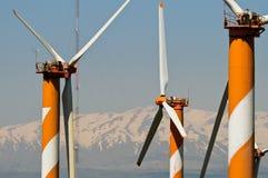 Wind turbine farm in Golan Heights Royalty Free Stock Image