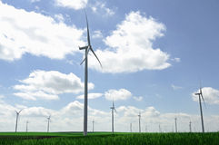 Wind turbine farm Stock Photography
