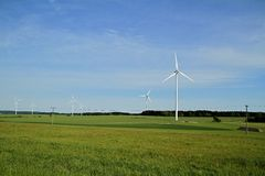 Wind turbine farm Royalty Free Stock Photos