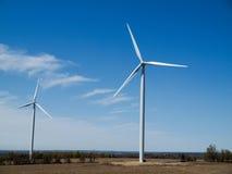Wind Turbine Farm. New Wind Turbine Generators In Ontario Power Generation Stock Images