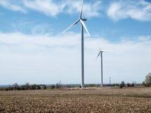 Wind Turbine Farm. New Wind Turbine Generators In Ontario Power Generation Stock Photos