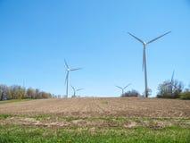 Wind Turbine Farm. New Wind Turbine Generators In Ontario Power Generation Royalty Free Stock Image