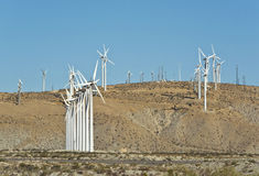 Wind turbine farm in Southern California Royalty Free Stock Images