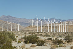 Wind turbine farm in Southern California. Wind turbines near Palm Springs, California Stock Photography