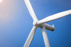 Wind Turbine Farm with Sunlight Stock Photography