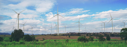 Wind Turbine Farm, Wind Energy Concept. Royalty Free Stock Images