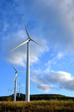 Wind Turbine Farm with Windmill Turbines stock image