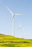 Wind turbine electric generator farm Royalty Free Stock Photo