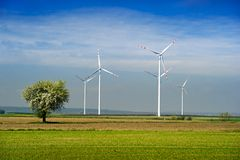 Wind turbine. Royalty Free Stock Photos