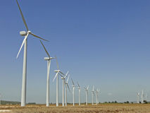 Wind turbine on the farmer field. Stock Photography