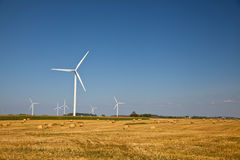 Wind Turbine on the farmer field Stock Image