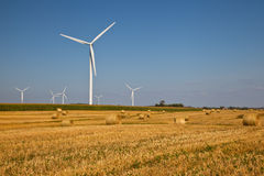 Wind Turbine on the farmer field Royalty Free Stock Images