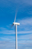 Wind turbine with fast moving blades Stock Image