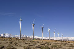 Wind turbine field Royalty Free Stock Images