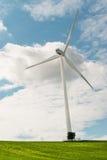 Wind turbine. On the field Stock Photography