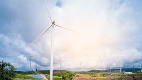 Wind Turbine in a field. Time Lapse Wind Turbine in a field stock footage