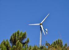 Wind turbine. Wind turbine in the forest,Thailand Royalty Free Stock Image