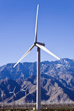 Wind Turbine Front. Wind turbine stands among hundreds of others in Southern California near Palm Springs Stock Images