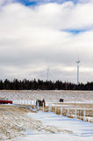 Wind turbine in Gaspesie. Quebec, Canada. These are more and more popular in this region Royalty Free Stock Photo
