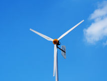 Wind turbine generating electricity Stock Photo