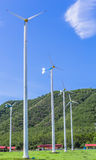 Wind turbine. Generating electricity with solar cells Royalty Free Stock Image