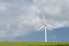 Wind turbine generating power Stock Image