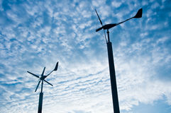 Wind turbine generator Stock Photography