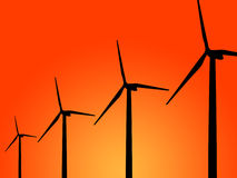 Wind turbine generator Royalty Free Stock Photography