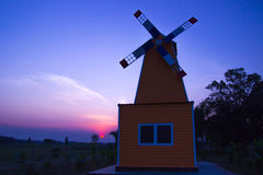 Wind turbine generator on house Stock Photo