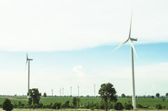 Wind turbine. The wind turbine generator,the renewable energy Royalty Free Stock Images