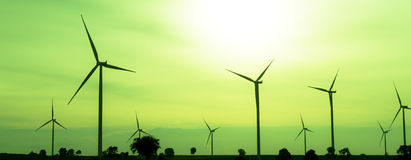 Wind turbine. The wind turbine generator,the renewable energy Royalty Free Stock Photos