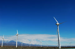 Wind turbine generators Stock Photography