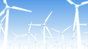 Wind turbine generators Royalty Free Stock Photography