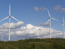 Wind turbine generators Royalty Free Stock Image