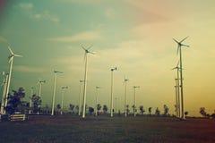 Wind turbine generators. Royalty Free Stock Photo