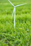 Wind turbine on grass Stock Photo