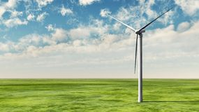 Wind turbine on grass Stock Photos