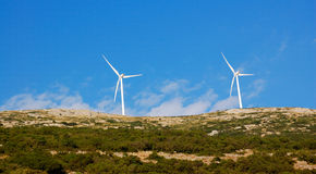 Wind turbine, greece Stock Image