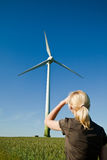 Wind turbine - green energy Royalty Free Stock Photos